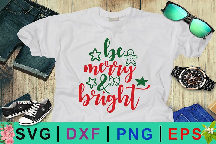 Be Merry and Bright SVG Design