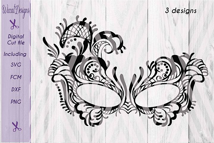Lace mask, Masquerade Mask svg, Tattered Lace Mask svg, Masked ball svg, fcm files, girls svg,
