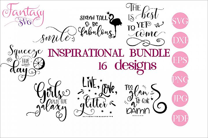 Inspirational BUNDLE - svg cut files