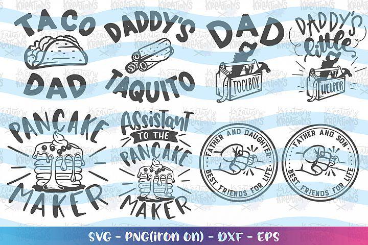 Fathers Day bundle Pack Matching Shirts Cute SVG Grandpa