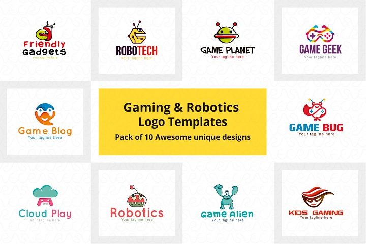 Gaming & Robotics Logo Templates Pack of 10 awesome Designs