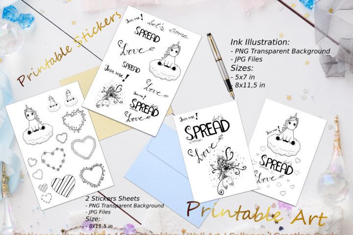 Spread Love Quote Ink Set