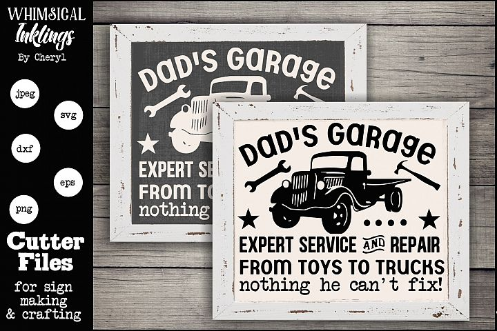 Dad Can Fix It - Dads Garage SVG