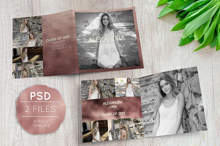 Senior Announcement Bi-Fold Template