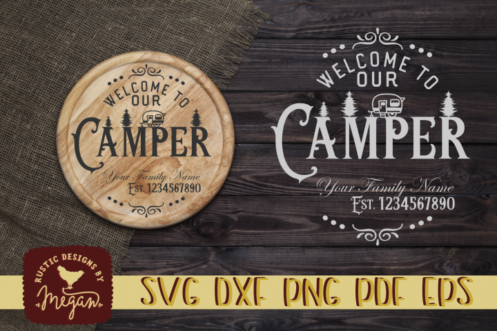 Custom Camping SVG cut file