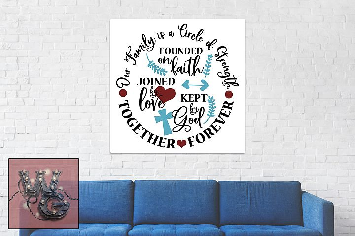 Family Circle of Strength SVG DXF PNG JPG Commercial