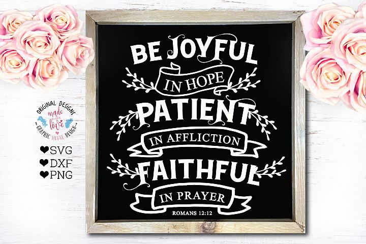 Be Joyful in Hope - Bible Verse Cut File