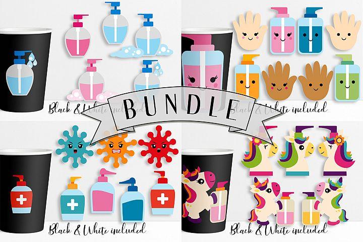 Hand soap graphic illustrations bundle