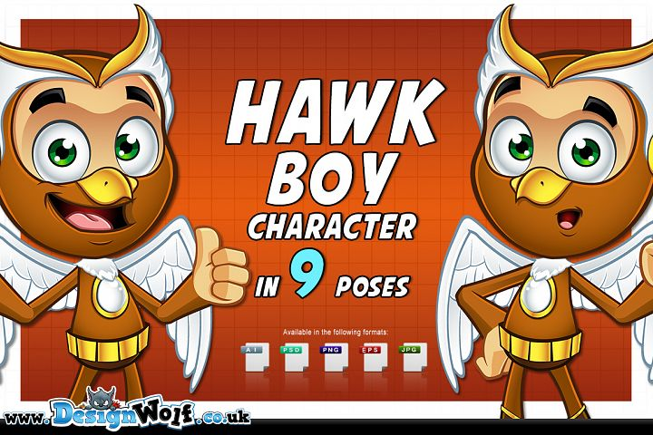 Hawk Boy - In 9 Poses
