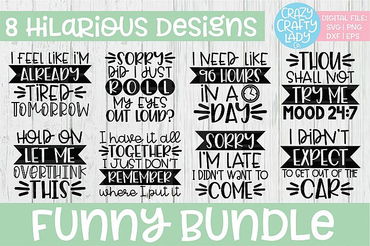 Funny Bundle SVG DXF EPS PNG Cut File