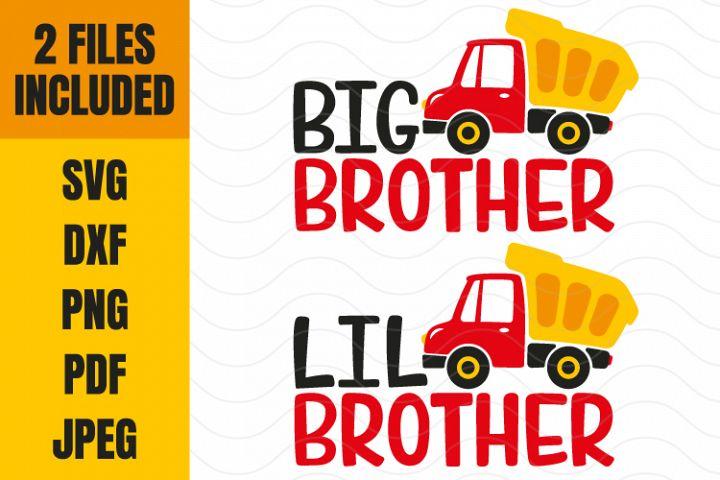 Dump Truck svg, Big brother svg, Little Brother svg, dxf