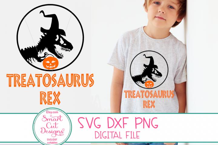 Halloween Dinosaur SVG, Treatosaurus Rex SVG, Boy, Dinosaur