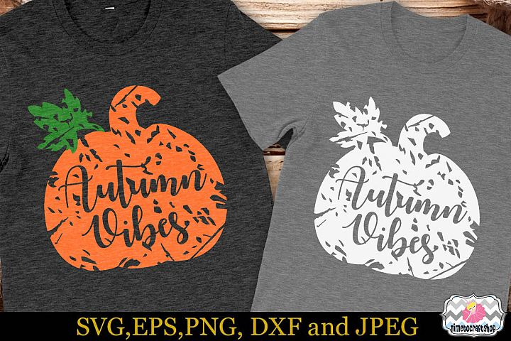 Thanksgiving SVG, Eps, Dxf & Png For Distressed Autumn Vibes