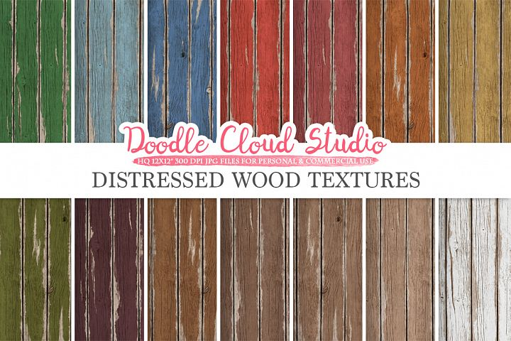 Distressed Wood digital paper, Vintage Colors, Wood Backgrounds, Real Rustic Wood textures, Instant Download, Commercial Use