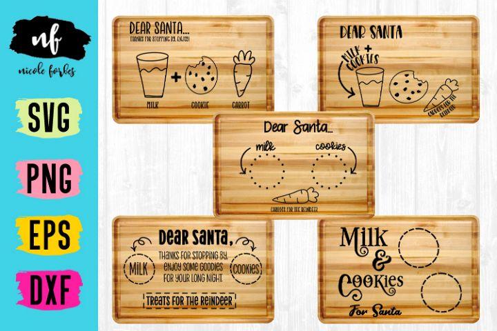 Santa Cookie Cutting Board SVG Bundle