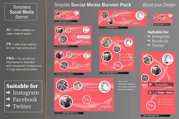 Template - Social Media Banner- Circles