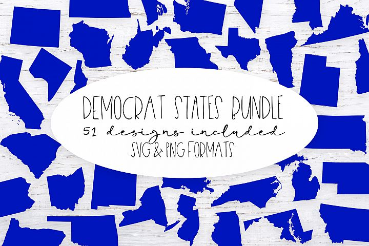 The Democrat United States Bundle - PNG Clip Art and SVG cut