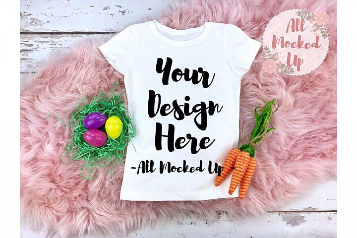 Next Level 3710 White T-shirt Mock Up Easter Theme - 2/19