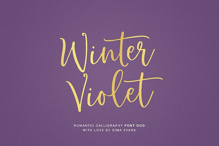 Winter Violet Luxury Script DUO