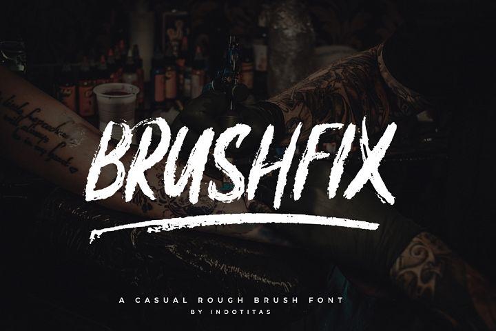 Brushfix Font
