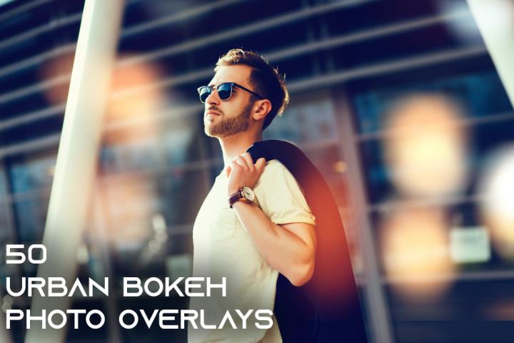 50 Urban Bokeh Photo Overlays