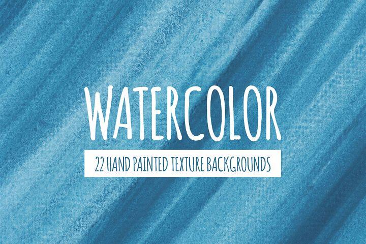 22 Blue Watercolor Texture Backgrounds