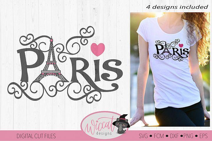 Paris Eiffel Tower word art, Valentine, City of love svg,