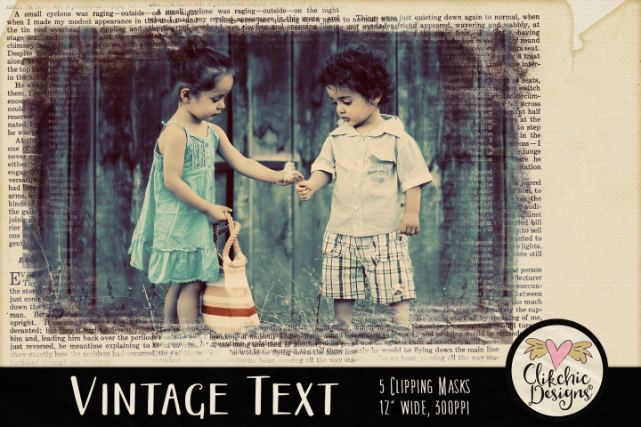 Grunge Clipping Masks - Vintage Text Photoshop Masks & Tutor