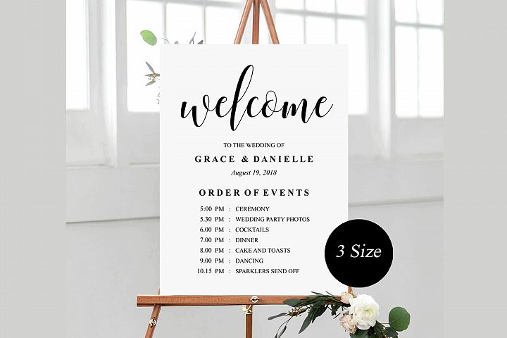 wedding welcome sign, wedding welcome Template