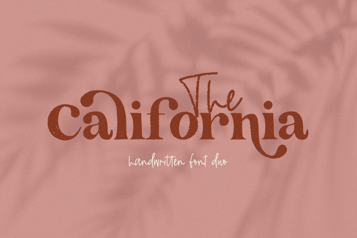 The California - A Serif/Script Handwritten Font Duo