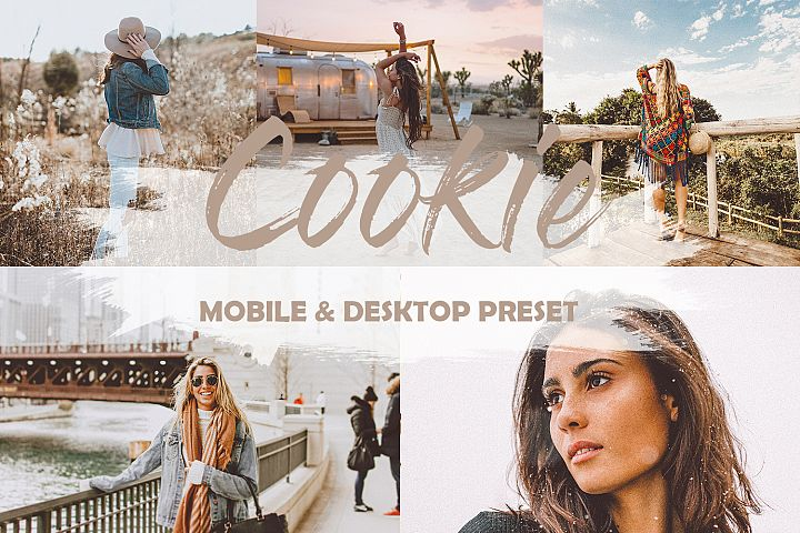4 Mobile and Desktop Lightroom Presets Cookie