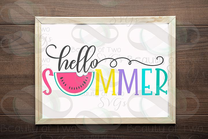 Hello Summer watermelon svg and png, Summer svg watermelon