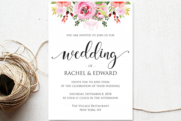 Wedding invitation only wedding invitation template