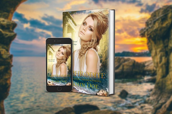 Aphrodite Book cover with beautiful woman for Soft Romance