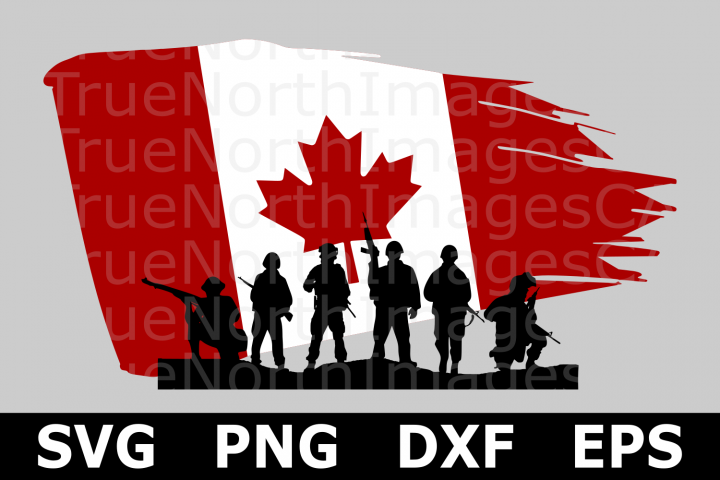 Canadian Distressed Flag Military - A Canada SVG Cut File