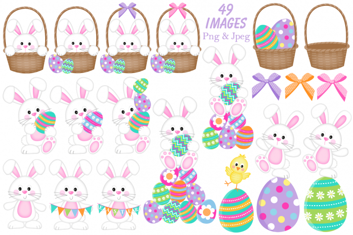 Easter clipart, Easter bunny graphics & illustrations - Free Design of The Week Design 1