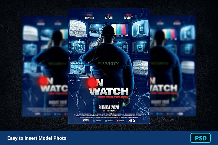 Movie Poster Template ON WATCH