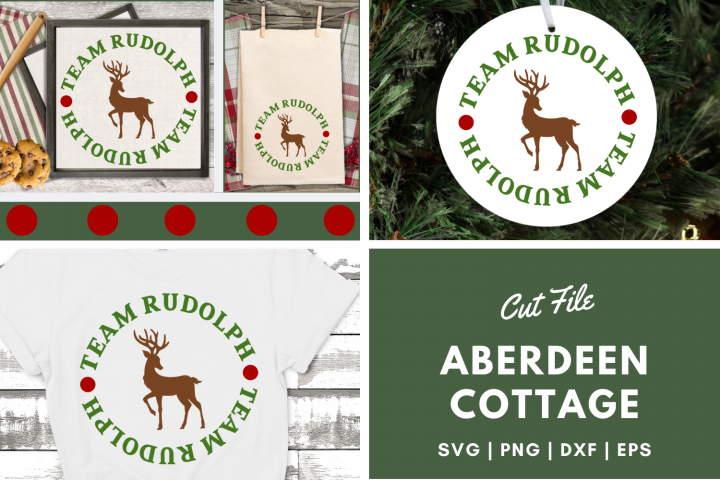 Team Rudolph - Christmas SVG | PNG | DXF | EPS