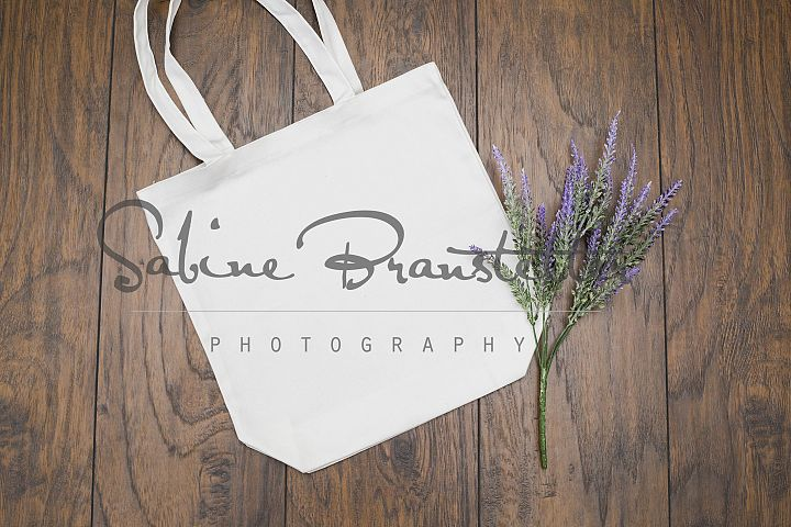 Styled Stock Photography White/Beige Tote Bag Mockup