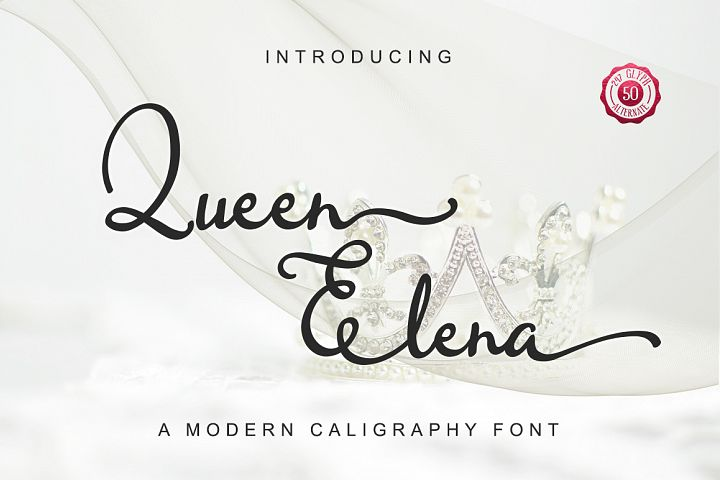 Queen Elena - Script Font