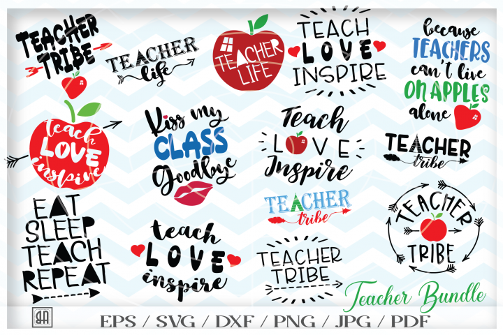 Teacher Bundle SVG - Teach svg - Teacher appreciation gifts