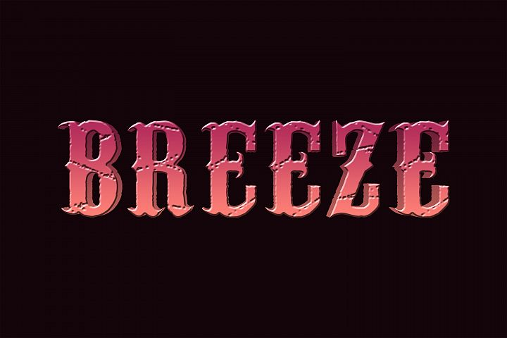 Breeze Editable Photoshop Text Style Effect