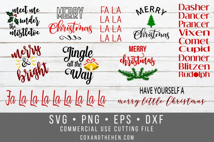 Christmas Wood Sign SVG Bundle