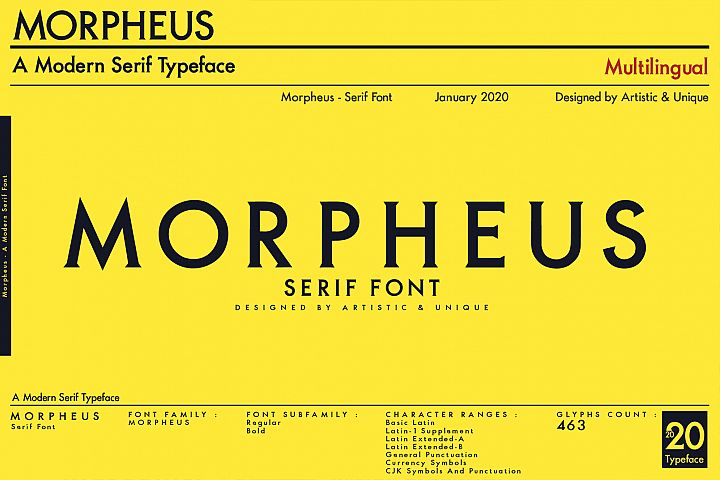MORPHEUS Serif font