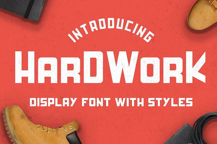 HardWork - Display Font With Styles