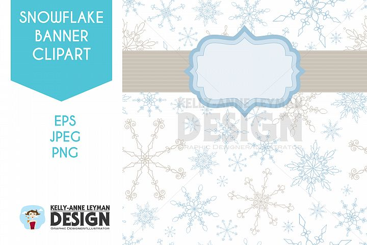 Winter Party Banner Clipart