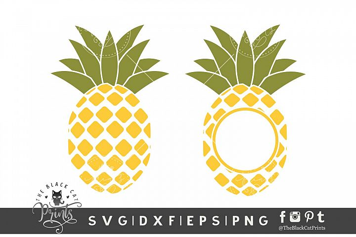 Pineapple Monogram SVG DXF EPS PNG