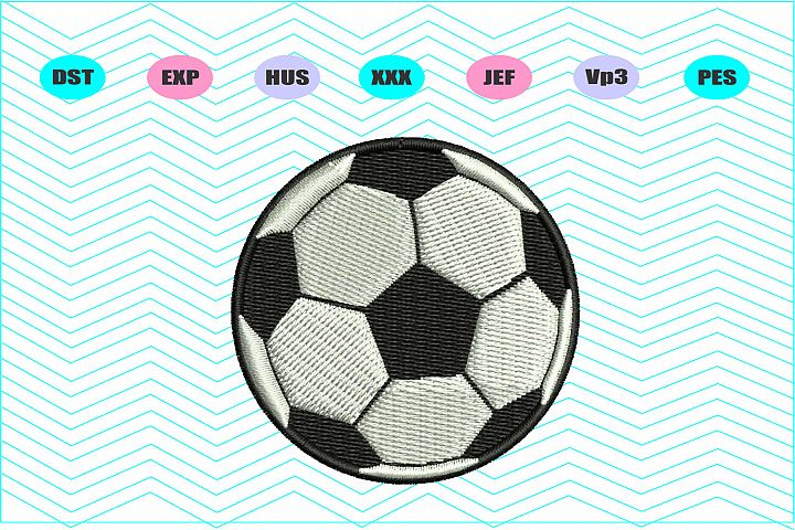 Soccer Ball Machine Embroidery Design - INSTANT DOWNLOAD