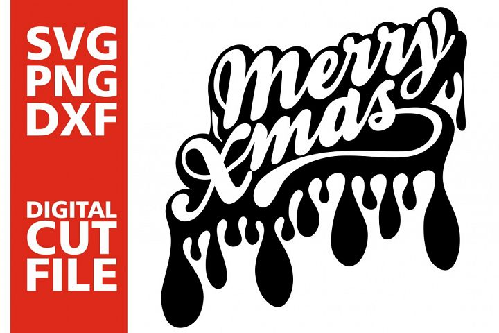 Merry Christmas svg, Dripping svg, Christmas, Black girl