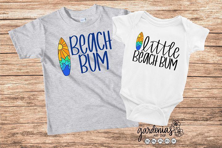 Little Beach Bum SVG | Surf Board | Matching Sibling Shirts